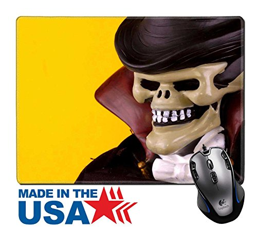 "MSD Natural Rubber Mouse Pad/Mat with Stitched Edges 9.8"" x 7.9"" IMAGE ID: 226251 Skull Vampire Halloween Decoration (Halloween Fright Nights Logo)"