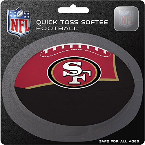 NFL San Francisco 49ers Kids Quick Toss Softee Football, Red, Small -