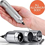 Azuki Full Metal Handle Milk Frother Handheld Foam Maker, Mini Blender and Foamer Perfect for Bulletproof coffee, Latte, Cappuccino, Hot chocolate, Juice Drink, Blender Electric Mixer with Stainless Steel Whisk Stand - Silver