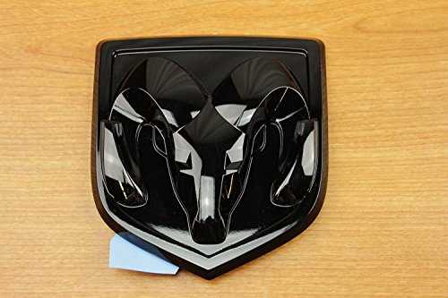 Dodge Ram 1500 Black Ram Head Tailgate Emblem Decal Logo Mopar Oem