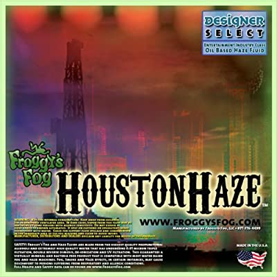 Froggys Fog - Houston Haze - Oil Based Haze Fluid - Haze Juice designed for all Oil Based Hazers and Haze Generators - 1 Gallon from Froggys Fog