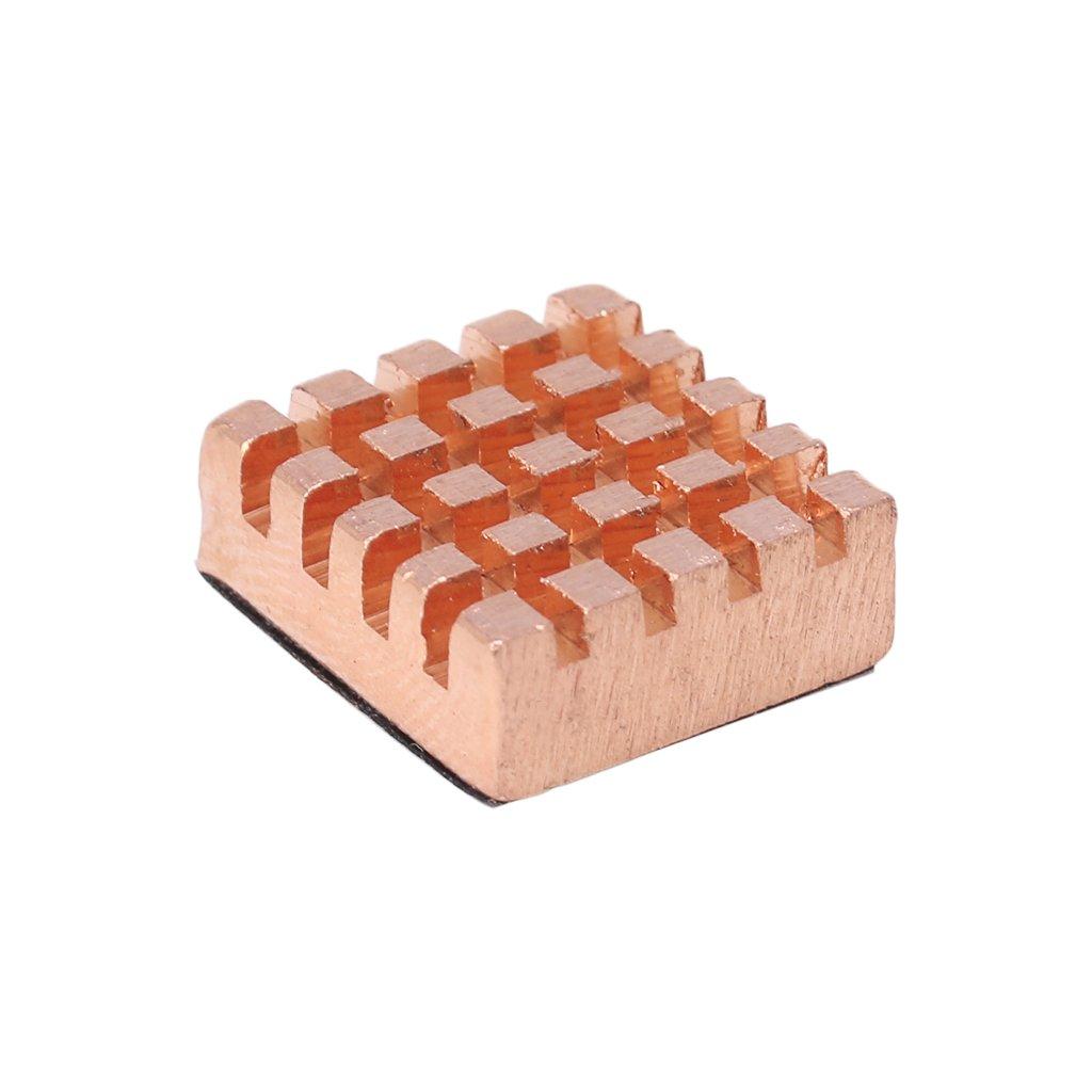 Ranuw Lot de 2 dissipateurs thermiques en aluminium et cuivre pour Raspberry Pi 2//3