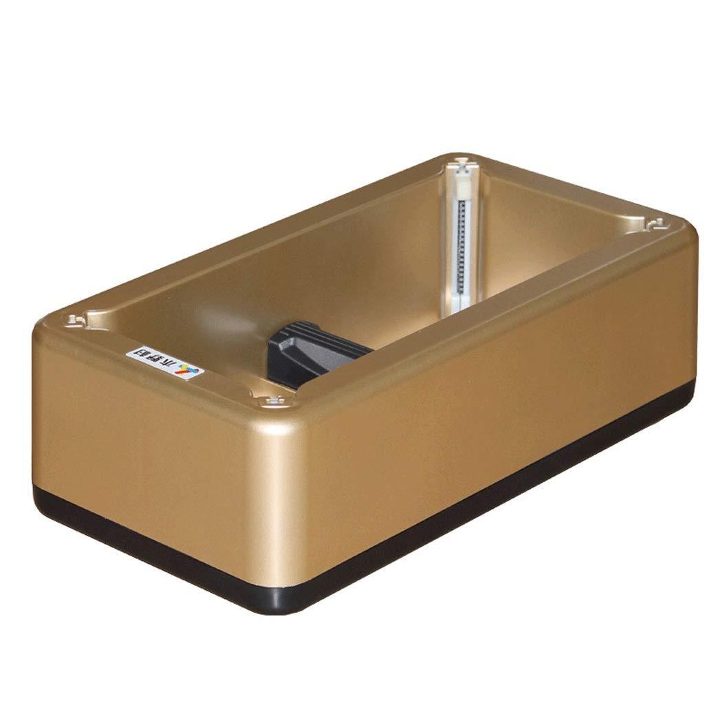 Yongyong Home Automatic Shoe Cover Machine Gold Automatic Shoe Cover Machine ABS Stainless Steel Material 40cm 21cm 13cm (Color : Gold)