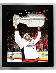 Framed Washington Capitals 2018 Stanley Cup Campions, Alex Ovechkin Holds The Stanley Cup 8x10 Photo Picture