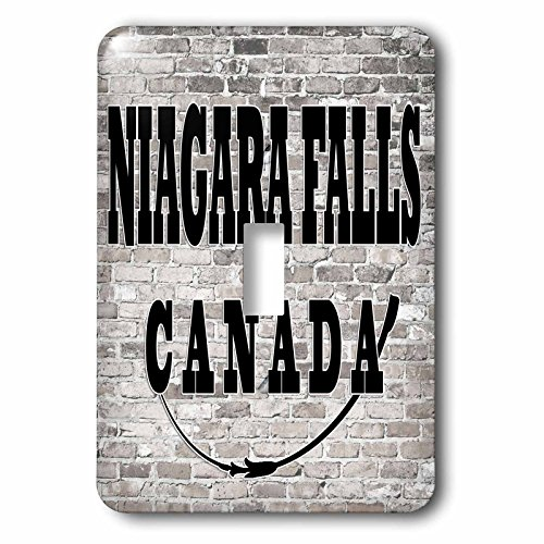 3dRose RinaPiro - Cities around the World - Niagara Falls. Canada. Brick wall. - Light Switch Covers - single toggle switch - Canada Outlet Niagara