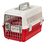 IRIS Extra Small Pet Travel Carrier, 5 Pack, White/Red