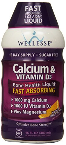 Wellesse-Calcium-Vitamin-D3-1000mg-Natural-Citrus-Flavor-16-Ounce-Bottles-Pack-of-2