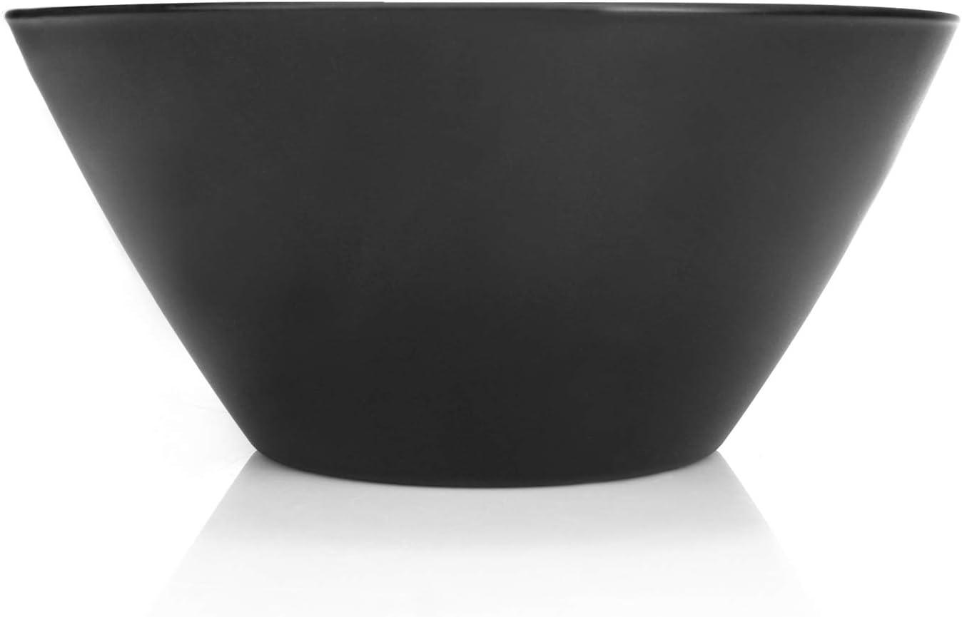 Bol de Vidrio Negro Decorativo para Fruta bocadillos y m/ás com-four/® Frutero 01 Pieza - Ciudad de Noche dise/ño /único de ensaladera City at Night