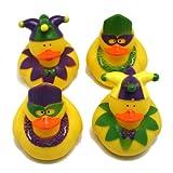 One Dozen (12) Rubber Duckie Ducky Duck MARDI GRAS Party Favors