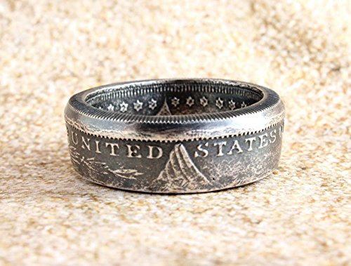 Morgan Silver Round, Fine Silver, Handmade Coin Ring, Double sided, Handmade Jewelry, Silver Ring, Coin Jewelry, Birthday Gift, Rustic Ring (Hammered Silver Coins)