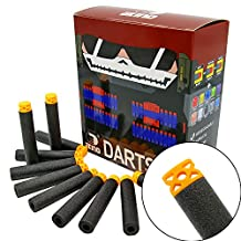 "EKIND 100 Pcs 7.2cm New Design TPR ""Waffles"" Soft Head Darts Refill Foam Bullet for Nerf N-strike Elite AccuStrike Series Blasters Toy Gun(Black)"