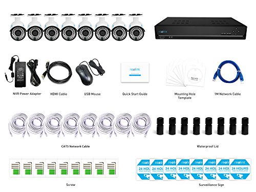 Reolink Poe Security Camera System 5mp 16ch Nvr 3tb Hdd