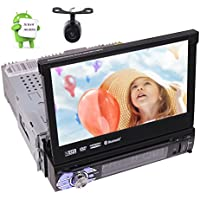 Quad-core Android 6.0 Stereo System 7.0 inch Single Din Autoradio Head unit with DVD Player Support GPS Sat Navi, Bluetooth, SWC, AM FM RDS, USB/SD, Subwoofer, Wifi ,DAB+,OBD2 + Backup Camera