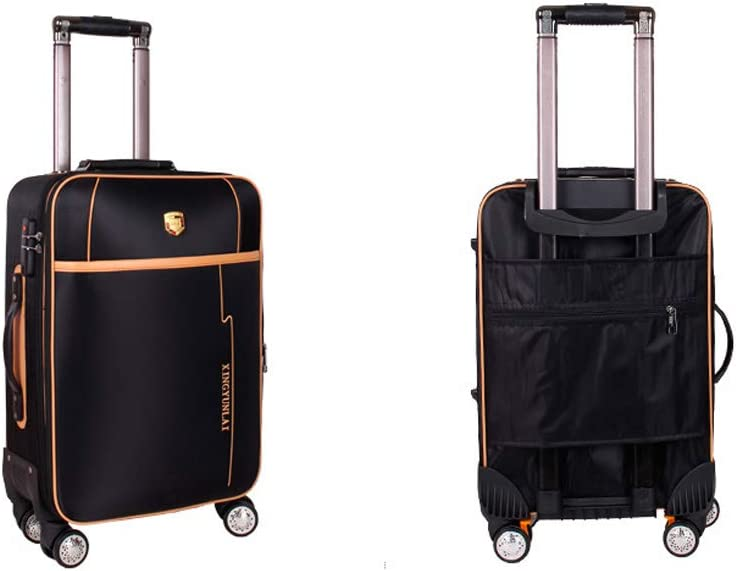 Black The Latest Style Soft Case Color : Black, Size : 24 Simple and 20 Inches Simple Rotating Suitcase Guyuexuan Carry Suitcase