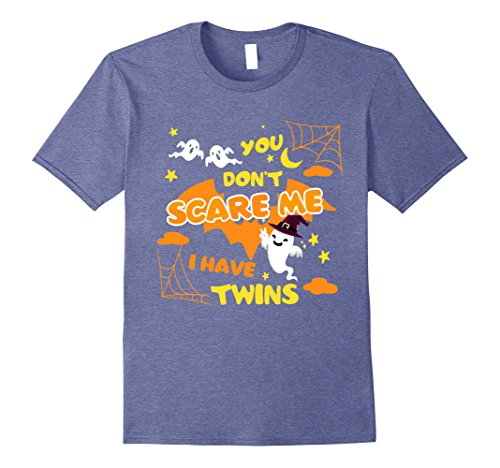 Baby Halloween Costumes Mother Care (Mens Halloween Nothing Scares Me I Have Twins T-Shirt 2XL Heather Blue)
