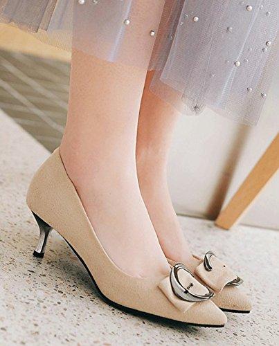 Escarpins Aisun Pour Femme - Talon Chaton Bout Pointu Escarpins - Vêtements Habillés Coupe Basse Pour Travailler Chaussures Nues