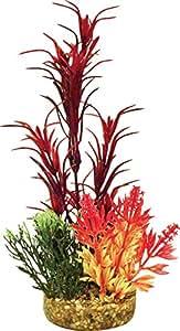 Blue Ribbon Pet Products ABLCB2011RD Sea Grass Bouquet Plant for Aquarium, Red