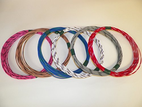 SPECIAL 18 GXL STRIPED WIRE KIT 6 COLOR X 25 FOOT LONG CHOOSE FROM 157 COLORS (Cable Street Motorcycle Controls)