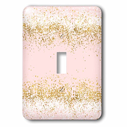 Confetti Lamp - 3dRose PS Glam - Image of Blush Pink Gold Confetti Dots - Light Switch Covers - single toggle switch (lsp_274221_1)