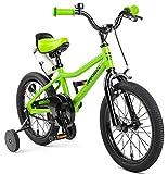 Retrospec Koda Kids Bike with Training Wheels, 16' 3-7yrs, EcoGreen