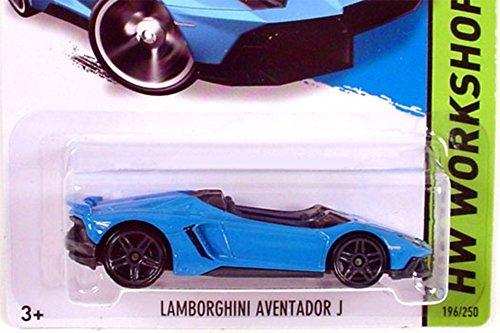 Hot Wheels 2014 HW Workshop All Stars Lamborghini Aventador J in Blue
