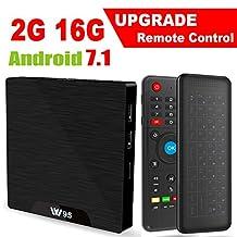 Android 7.1 Smart TV Box - Viden W95 2018 New Generation Android TV Box with Amlogic S905W 64Bits Quad-Core, 2GB+16GB, Wi-Fi, HDMI, USB*2, 4K UHD Web TV Box + Mini Wireless Keyboard with Air Remote