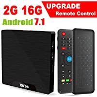 Android 7.1 Smart TV Box - Viden W95 2018 New Generation Android TV Box with Amlogic S905W 64Bits Quad-Core, 2GB+16GB, Wi-Fi, HDMI, USB2, 4K UHD Web TV Box + Mini Wireless Keyboard with Air Remote