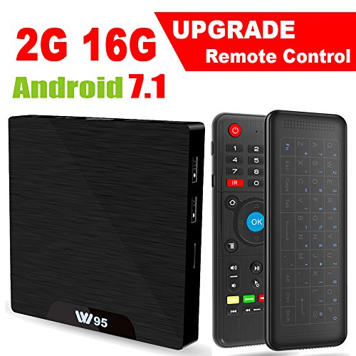 Android 7.1 Smart TV Box - Viden W95 2018 New Generation Android TV Box with Amlogic S905W 64Bits Quad-Core, 2GB+16GB, Wi-Fi, HDMI, USB2, 4K UHD Web TV Box + Mini Wireless Keyboard with Air Remote by Viden