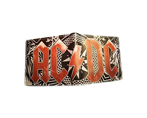 AC/DC Band Music Theme Men's Boy's Wallet In Gift box by Superheroes Brand