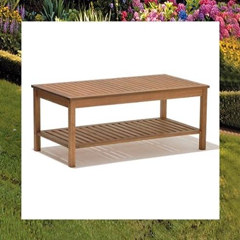Amazon.de: DENVER Lounge Tisch Garten Holz 120x60 Gartentisch ...