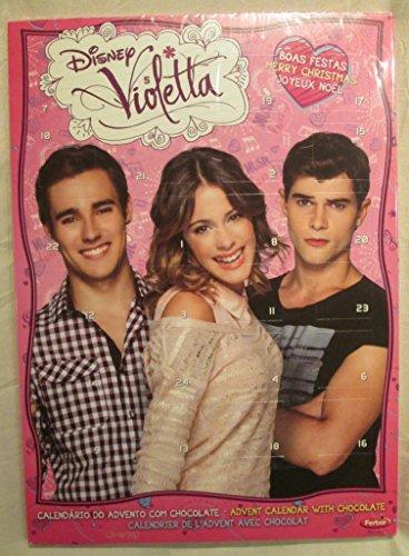 Weihnachtskalender Violetta.Disney Violetta Christmas Milk Chocolate Pink Advent Calendar