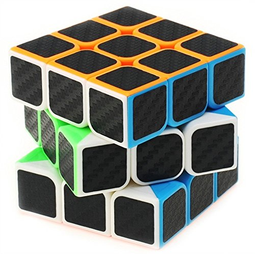 professional speed magic cube carbon fibre stickers 3x3 black by e smart home 11street. Black Bedroom Furniture Sets. Home Design Ideas
