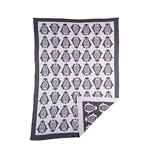 Lolli Living Mod Knit Jacquard Blanket Penguin, (Penguin Stroller)