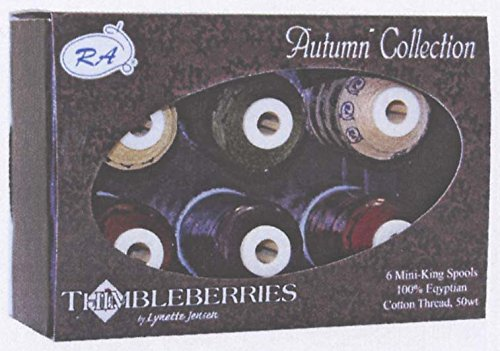 Robison-Anton Thimbleberries 6-Pack Cotton Thread Collection, - Anton Spool Robison Mini