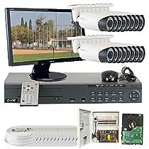 GW Security VD16CHH9 16 CH HD-SD DVR 16 x HD-SDI 1/3-Inch 1.3 Megapixel 720p CMOS Camera 2.8 to 12 mm Lens 78-IR LED, 180-Feet IR Distance