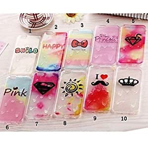 QHY The New Melt Ice Cream Small Fresh Transparent Shell for iPhone 6(Assorted Colors) , 7