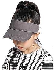 Kids Visor Sun-Hat Cotton Sports - Sun Protection Summer Hat Fit 4-10 Years
