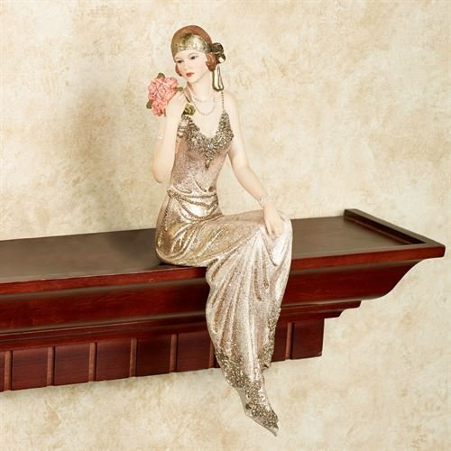 Touch of Class Poised with Style Shelf Sitter Gold