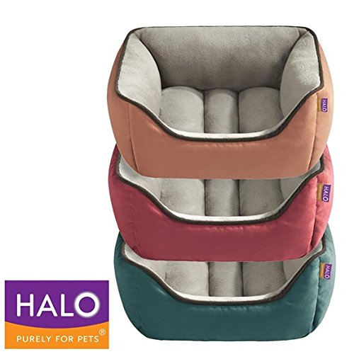 HALO Reversible Rectangular Cuddler, 21 by 25-Inch, Red/Taup