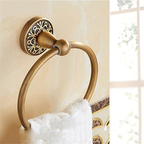 STAZSX European antique towel ring Vintage bathroom carved towel ring bathroom sink shelf, towel ring 1 by STAZSX - towel racks