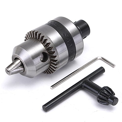 Letbo New Mini 1.5-10mm Electric Drill Chuck with 5mm Steel Shaft Mount B12 Inner Hole Chuck Adapter by Eltto