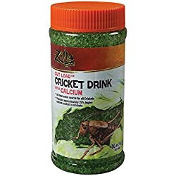 Zilla Reptile Food Gut Load Cricket Drink, with Calcium, 16-ounce