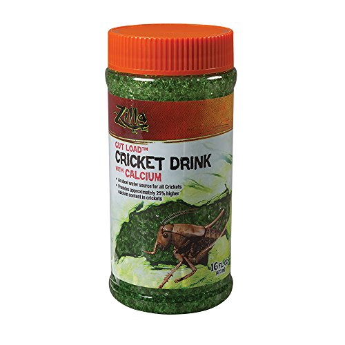 (Zilla Reptile Food Gut Load Cricket Drink, with Calcium, 16-ounce)