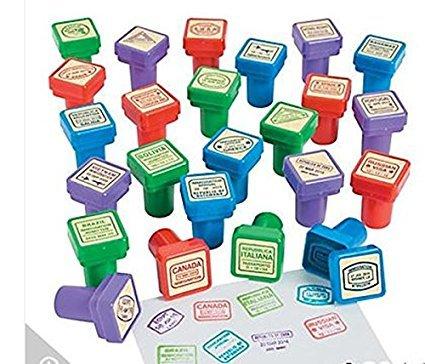 Fun Express Passport Stampers (48 Pack)