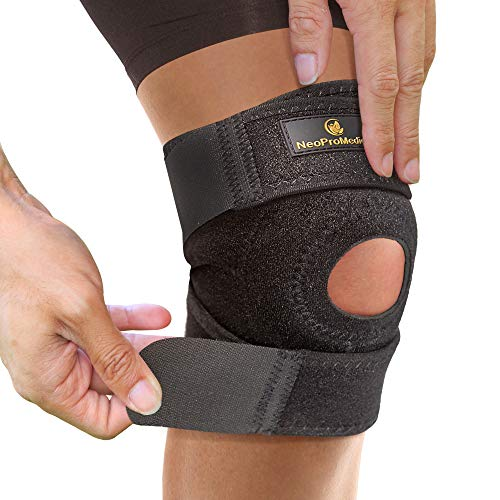 NeoProMedical Knee Support – Neoprene Breathable Knee Brace– Small to Medium Adjustable Size, Black Color