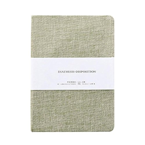 molyveva grueso cuaderno fresco puro Color cubierta de tela Mini portátil libro agenda en blanco Cuaderno Diario, G,...