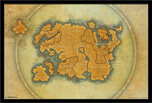 Trends International Framed Poster Elder Scrolls Online-Map,