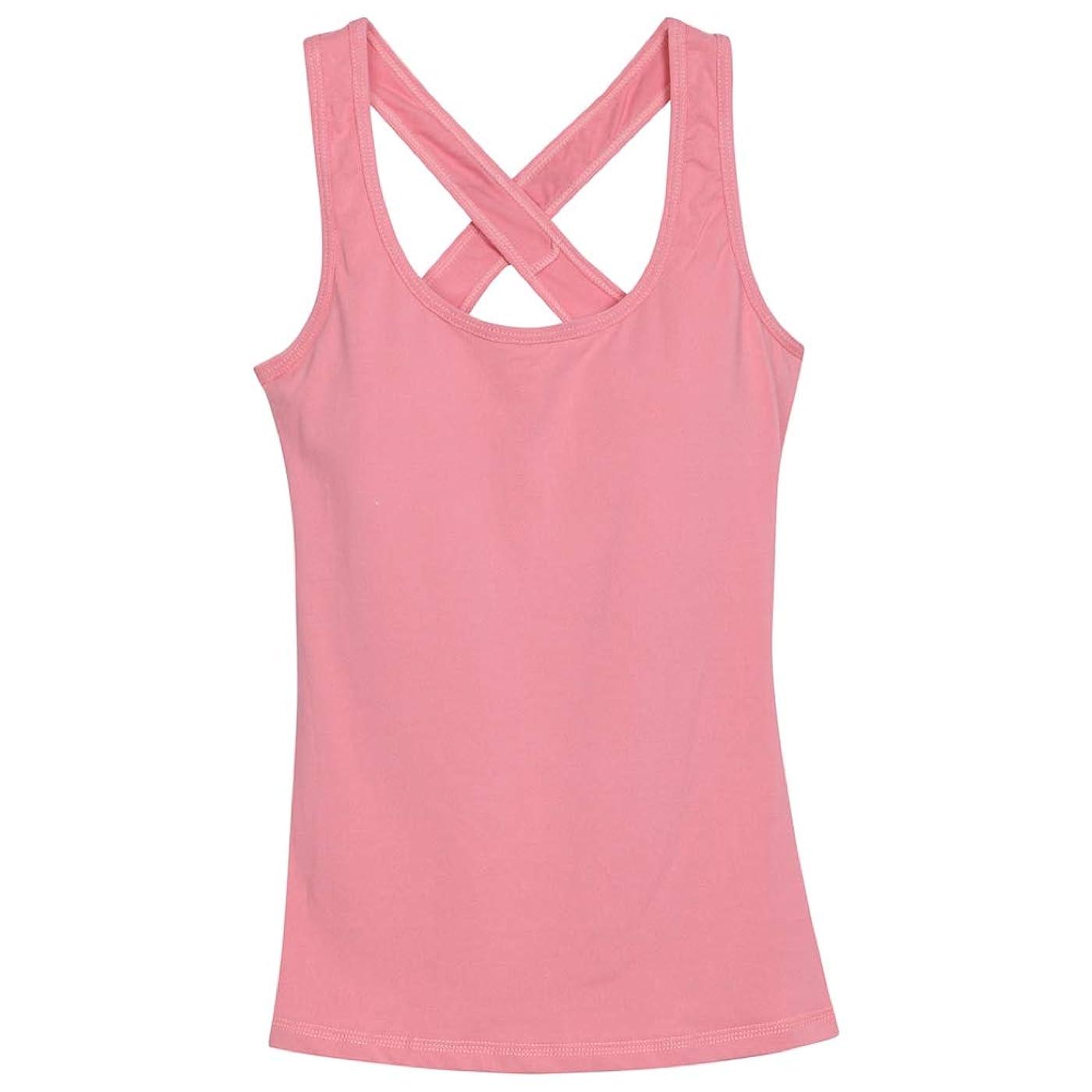 つかむ衝撃助言ヨガウェア ヨガシャツ タンクトップ レディース トレーニング フィットネス ランニングシャツ