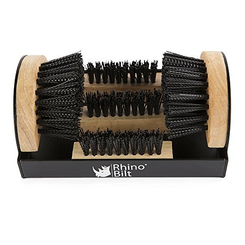 Rhino Bilt Boot Scraper, Deluxe Boot Scrapers - Outdoor Boot Brush Extra Wide for Commercial and Industrial use
