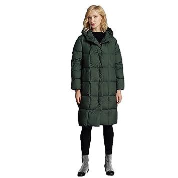 WY Invierno Chaqueta Abrigo Capucha Mujeres Informal Slim Jacket Outwear Coats Abrigos4,Green,XXXL